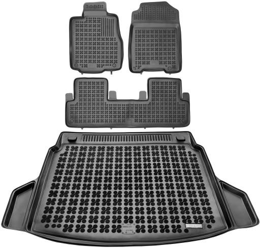 Honda CR-V 2012- Dywaniki gumowe + bagażnik