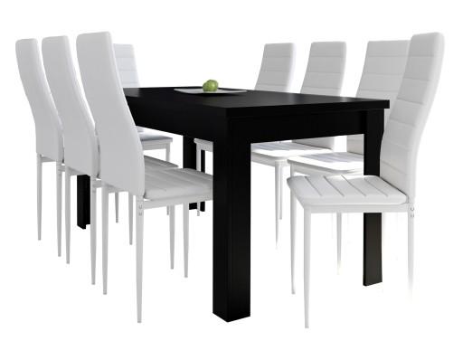 stół i krzesła czarne