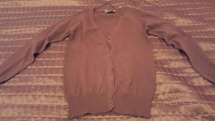 Brązowy sweter Zara rozm M kardigan rozpinany 9839723475 Odzież Damska Swetry RQ NCEIRQ-4