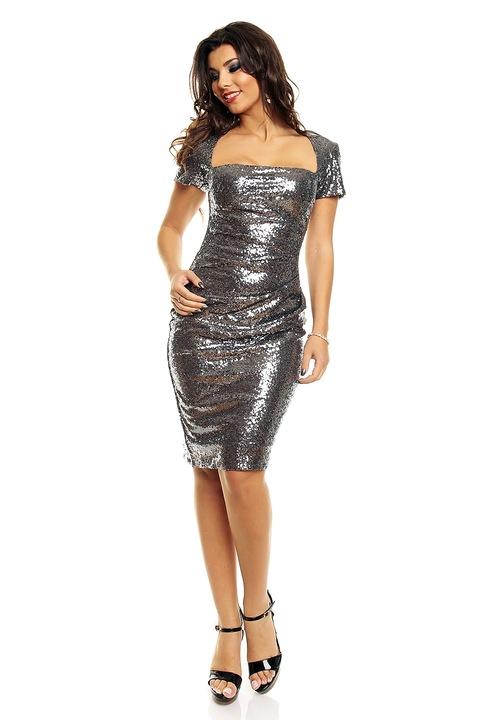 luksusowa sukienka CEKINY 36 S wysyłka 24h 7525323677 Odzież Damska Sukienki wieczorowe VU AMENVU-7