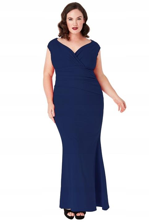 Suknia balowa długa sukienka granatowa dekolt 44 7775755249 Odzież Damska Sukienki wieczorowe TO ASKZTO-3