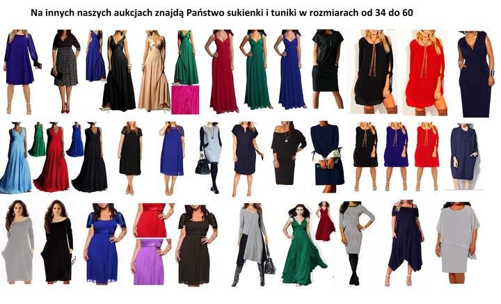 Linia Plus Size MARTA RĘKAW46 48 50 52 54 56 58 60 9179658560 Odzież Damska Sukienki wieczorowe MO TSGRMO-7
