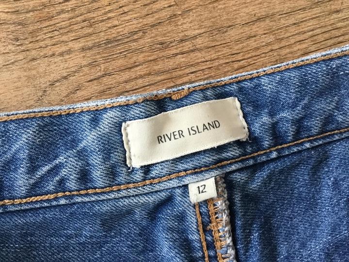 Jeansy boyfriend 42 River Island L poszarpane 7603767604 Odzież Damska Jeansy ML MLUQML-3