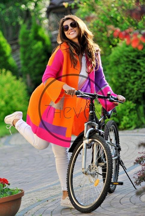 SWETER NARZUTA KARDIGAN PASY Z KAPTUREM ALICE 7583932131 Odzież Damska Swetry JR MYUYJR-6