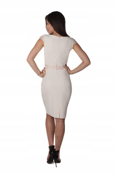 Sukienka Koronka Na Wesele Komunie R/40 7923302337 Odzież Damska Sukienki wieczorowe QW OPMXQW-9