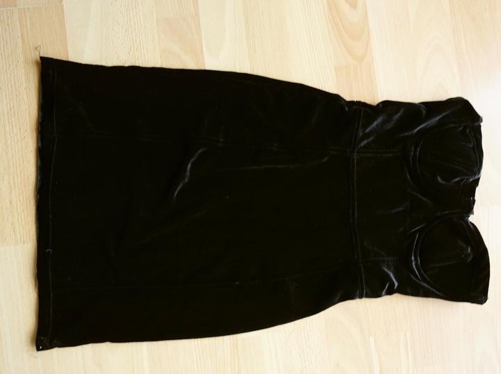 Mała czarna aksamit welur velvet impreza XS 34 7763839988 Odzież Damska Sukienki wieczorowe RJ KFCIRJ-5