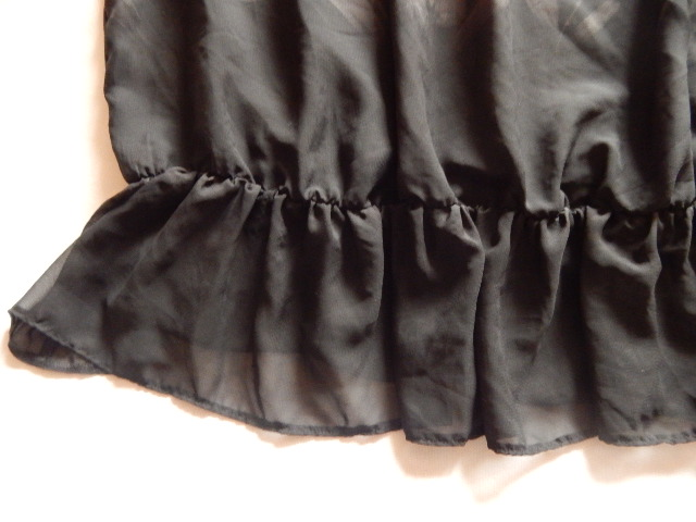 -%PAPAYA czarna szyfonowa w kwiaty jak malowane 48 9710181196 Odzież Damska Bluzki QD IGUCQD-7
