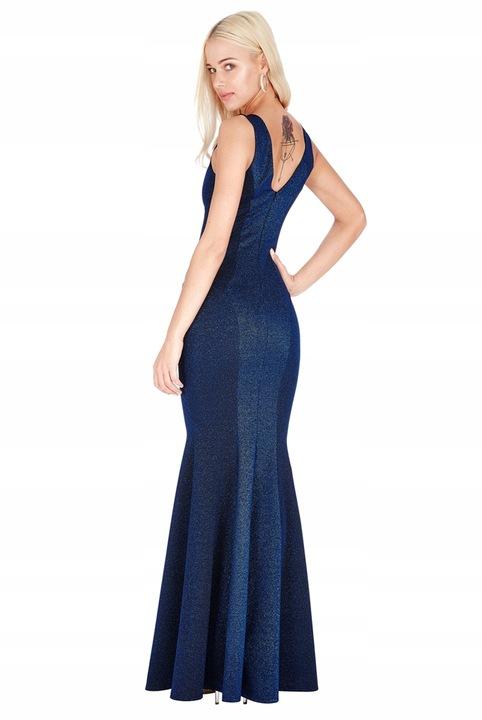Sukienka na wesele syrena brokatowa A227 42 7771803468 Odzież Damska Sukienki wieczorowe GD REXHGD-3